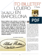 Alberto Billeter - Un Relojero Suizo en Barcelona