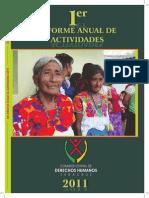 Informe de Labores CEDHV 2011