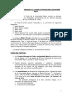 Convocatoria 2014 y Bases para el 2º Festival Escuela de Teatro Universidad Mayor