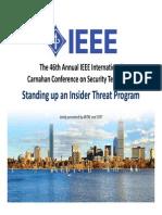 IEEE Insider Threat Program Conf.