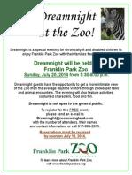 Dreamnight Registration Flyer 2014