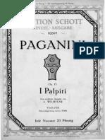 Paganini Wilhelmj Palpiti Violin