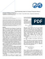 Analytical Method of Evaluating Productivity Index for Constant Production Rate or Constant Wellbore Pressure (2010)