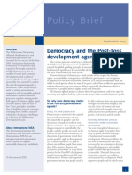Democracy and the Post 2015 Development Agenda PDF