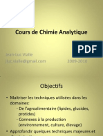 Cours de Chimie Analytique 2010
