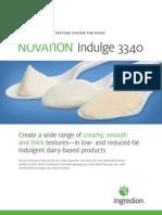 NOVATION® Indulge 3340 Fact Sheet