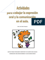 Actividades Para Trabajar La Expresioìn Oral y La Comunicacioìn en El Aula