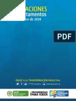 Exportaciones de sectores PTP por departamento / Principales productos exportados (2012, 2013 y enero-marzo 2014)