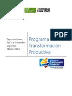 Evolución de las exportaciones a países con TLC con Colombia | Marzo 2014