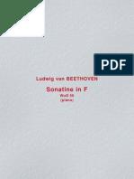 963955 Sonatine in F WoO 50 Piano L Van Beethoven