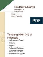 Nikel (Ni) Dan Paduanya