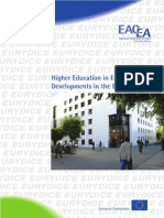Higher Education in Europe 2009 Developments in the Bologna Process