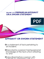 How to Prepare a Sworn Statement