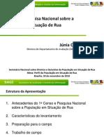 1º Censo e Pesquisa Nacional Sobre a População Em Situação de Rua