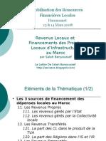 Revenus Locaux et Financement des Projets d'Infrastructure au Maroc...par Salah Benyoussef