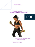 BIZNIS PLAN - Fitness Centar ,,Taya Gym,,