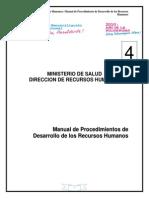MANUAL 4 de Prodecimientos de Desarrollo RRHH