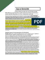 Cap as Genocide