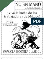 De Mano en Mano Nº22 (13 de Septiembre de 2006)