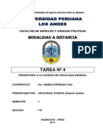 TAREA Nº 1 Psicologia General