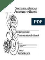 2014_Caderno Para o Congresso 2014 - Continue a Buscar Primeiro o Reino 11042014 01