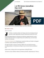 Jim Hayes dies at 88; former journalism professor, writing coach