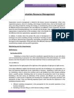 Organization Resource Management