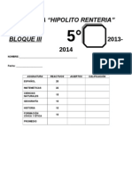 Examen Bloque III Quinto 2013-2014