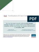 Verification of Cisco Compatibility