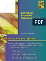 Enteral and Parenteral Nutrition