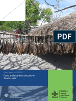 Food and nutrition security in Timor-Leste