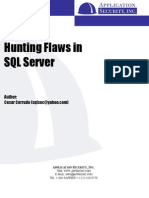 Hunting Flaws in SQL Server