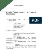 Sanchez, Carmen-04!11!2010-Ineficacia Accion Resolutoria y Accion Rescisoria