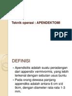 Tehnik Operasi Apeendiktomi
