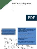 Explanative text samples