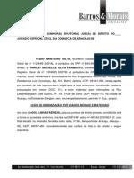Ação de Indenização Por Danos Morais e Materiais-Fábio Monteiro de Outros