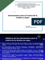 Instrumentos Para El Control de Turbinas de Vapor