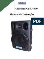 Caixas Acústicas CSR 4000 - Manual de Instruções