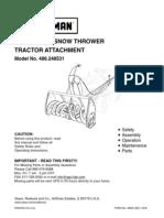 "Craftsman 42"" snowblower manual"