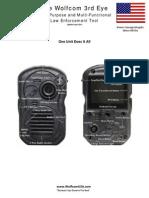 Wolfcom 3rd Eye Police Camera Brochure