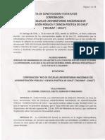 Acta Constitución y Estatutos Corporación Red Escuelas Administración Pública y Cs Política de Chile