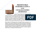 Prehistoria Introducciòn a Las Civilizaciones Humanas