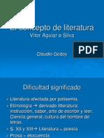 El Concepto de Literatura