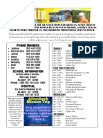 Parent Mission Trip Info Sheet