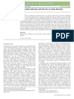 Sol Et Al. - 2014 - Urbanisation Tolerance and the Loss of Avian Diversity