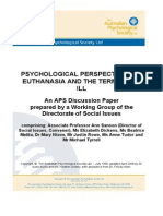 Euthanasia Position Paper