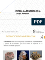 1.0 Introduccion a La Mineralogia Descriptiva