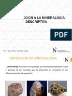 1.0 Introduccion a La Mineralogia Descriptiva