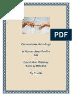 Numerology Profile Report- Oprah