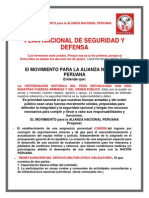 Seguridad y Defensa Nacional